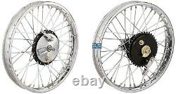 19half Width Hub Front & Rear Complete Wheel Rim Set Assey For Royal Enfield Gec