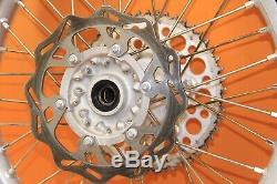 2003 02-08 Yz250 Yz450f Excel Avant Roue Arrière Ensemble Complet Rim Hub Spokes Rotor