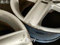 2004-11 Audi A4 A6 Ensemble Complet 17 Roues En Alliage Argent 5 Spoke 7.5jx17 Et45