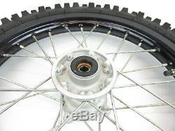 2011-2019 Kawasaki Kx Kx65 65 Rim Complet Roue Avant Moyeu Noir 14x1.40