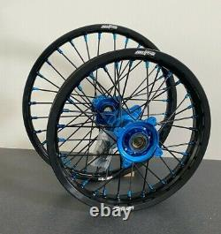 2014-2020 Husqvarna Tc85 Roues Motocross Rims Black Blue Complete 16/19 Tc 85