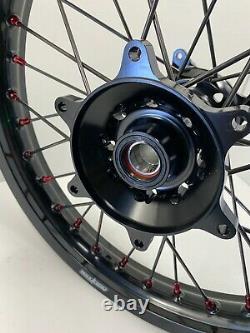 2014-2021 Jantes De Roues Honda Motocross Black Complete 19/21 Crf250 Crf450 Crf450