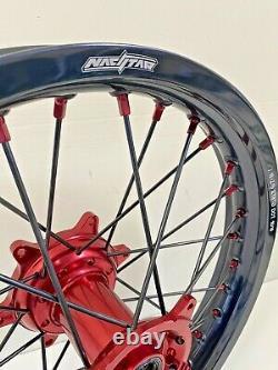 2014-2021 Jantes Honda Motocross Noir Rouge Complet Crf250 Crf450 Crf