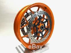 2015 Honda Cbr1000rr Repsol Oem Complète Jante Avant Frein Orange Hrc Rotors
