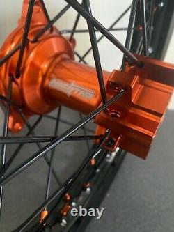 2016-2021 Ktm Sx 65 Motocross Wheels Rims Black Orange Complet