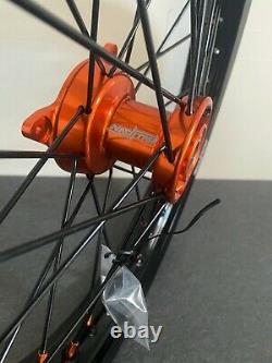 2016-2021 Ktm Sx 65 Roues Motocross Rims Noir Orange Complet