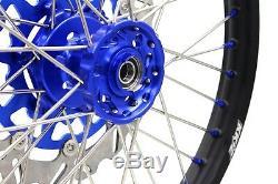 21/18 Jeux Complets De Roues Pour Suzuki Drz400sm 05-18 Jantes Bleu Nip & Disc & Sprk