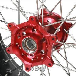 3.5 4,2517 Hub Jantes Roues Complètes Pour Honda Cr125r Cr250r Crf250r Crf450x