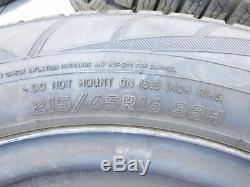 4x Roues Complètes Rim Pneus D'hiver 215 / 65r16 5x108 6.0-6.9mm Volvo Xc70 P2