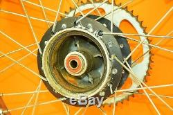 85-87 1986 Xr100 Xr 100 Avant Roue Arrière Ensemble Complet Rim Hub Spokes Tire