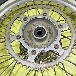 95-96 1996 Cr250 Cr500 Cr 250 Roue Arrière Avant Set Complet Moyeu De Jante Rayon Pneu