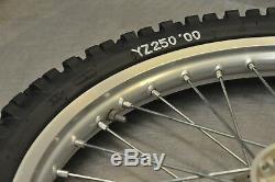 99-01 Yamaha Yz250 Yz 250 Complet Moyeu De Jante De Roue Avant Arrière Takasago Excel
