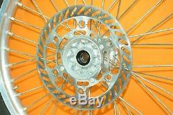 99-02 2001 Kx250 Kx 250 Avant Roue Arrière Ensemble Complet Hub Rim Spokes Tire