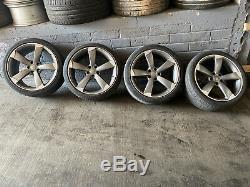Audi A4 B8 A5 8t A6 C6 A7 19 Pouces Rotor Black Edition Alliage Wheels Ensemble Complet