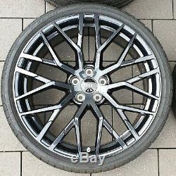 Audi R8 4s 20 Pouces Jantes Roues Complètes D'été Roues Original Noir