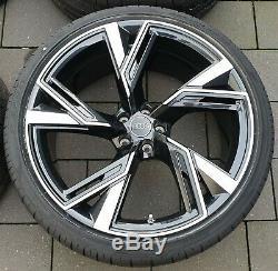 Audi Rs6 Rs7 4k C8 22 Jantes Pouces Roues Complètes Pneus D'été Véritable
