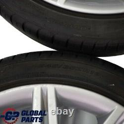 Bmw E60 E61 Silver Set Rim Complet 4x Roue Avec Pneumatiques 19 M Double Porte 172