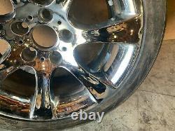 Bmw E60 E61 Style 185 Chrome 18 Pouces Sport Roue De Roue Avant Avec Pneu # 5 Oem # 013