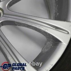 Bmw E60 M5 Silver Set Rim Complet 4x Roue Avec Pneumatiques 19 M Rayon Spoke 166