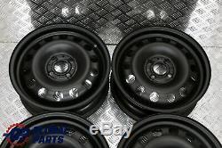 Bmw Mini Cooper R50 R55 R56 Ensemble Complet 4x Jante En Acier 15 Noir 1511414