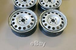 Bmw Mini Cooper R50 R55 R56 Set Complet 4x Jantes En Acier 15 Argent 6768497