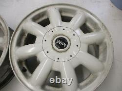 Bmw Mini R50 R52 R53 Roues En Alliage 15 R82 8 Spoke / Blanc Ensemble Complet De 4