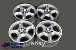 Bmw X5 E53 Silver Complete 4x Roue Alliage Rim 17 Étoile Spoke 57 7,5j Et40