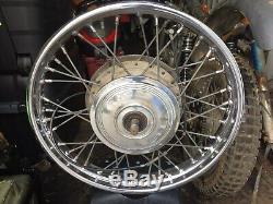 Bsa Triumph Double Leading Chaussures Roue Avant Complète, Dunlop Rim
