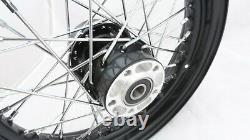 Complet Noir 23x3.00 Roue Avant 40 Pour Harley Touring 2008/plus Tard