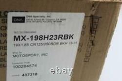 Dna X-series 19x1.85 Roue Arrière Complète Rouge/noir Part # Mx-198h23rbk