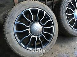 Fiat 500 Twin Air Alloy Wheels X4 Complete Set Genuine 15inch 4 Stud