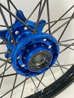 Husqvarna Fx Fc Fe Motocross Roues Rims Black Blue Complete 18/21 125 250 450