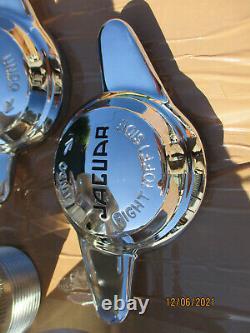 Jaguar Mk2 240 340 V8-250 Ensemble De Conversion De Roue De Fil Complet Avec Moyeux / Épingleurs