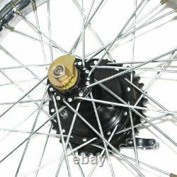 Jante De Roue Arrière 19'' Complète Avec La Moitié Parlée + Moyeu Pour Royal Bullet Bsa Bike Gec