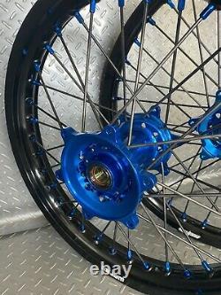 Jantes Yamaha Motocross Black Blue Complete 18/21 Wr250f Wr450f Yz Yzf