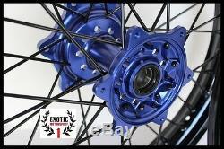 Jeu De Roues Complet Yamaha Yzf 250 Yz250f Yz450f 21 & 19 Jantes Noires 2014-18