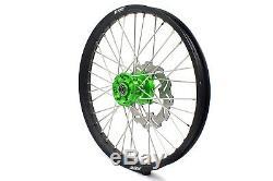 Kke 21 18 Enduro Complet Jantes Roues Pour Kawasaki Kx125 Kx250 1993-2002 Vert
