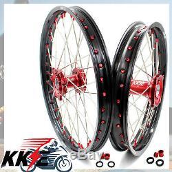 Kke 21/19 Complet MX Jante De Roue Pour Honda Crf250r 2014-2019 Crf450r Red Titiller