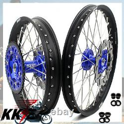 Kke 21 19 Ensemble Complet De Jantes De Roue MX Pour Kawasaki Kx125 Kx250 1993-2002 Bleu