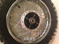 Klx110 / Drz110 Traction Arrière Assemblage Avec Dunlop Mx53 Pneu Roue Complète