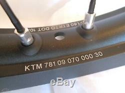 Ktm Complète 21 Roue Avant, Noir Rim, Rayons Noirs, Le Moyeu En Aluminium Withdisk