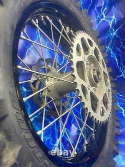 Ktm Complete Rear Wheel Rim Black Oem Stock Assembly 125-530 18x2.15