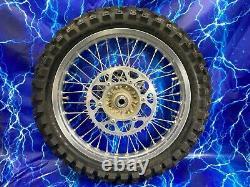 Ktm Complete Rear Wheel Rim Excel Oem Stock Assembly 125-530 19 Pouces Pneu Argenté
