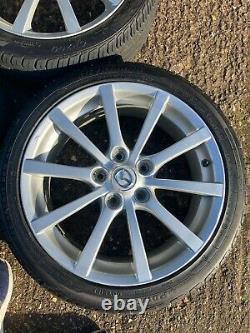 Mazda Mx5 Mk3.5 Alloy Wheels Et Presque Nouveaux Pneus Ensemble Complet De Quatre