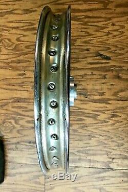 Norton Commando 850 Roue Avant Complète Originale Rim Dunlop Wm2-19
