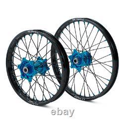 Oem Wheel Set Factory Billet Blue Hub Black DID Rim 19 Arrière 21 Assemblage Avant
