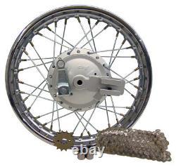Pour Honda 85-up Crf80 Xr80 14 Complete Rear Rim Wheel Assembly Brakes & Sprocket