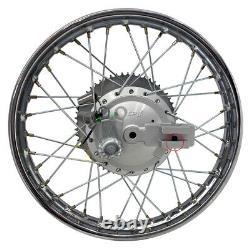 Pour Suzuki 03-up Drz 125 14 Complete Rear Rim Wheel Assembly Brakes & Sprocket