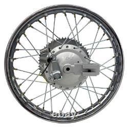 Pour Suzuki 03-up Drz 125 16 Complete Rear Rim Wheel Assembly Brakes & Sprocket