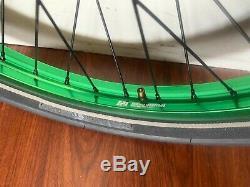 Profil D'occasion Mini Wheelset Hubs Vert Revanche Jantes Complète 1bmx Bike Wheels